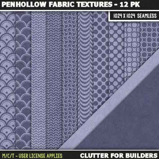 Clutter - Penhollow Fabric Textures - 12PK - ad