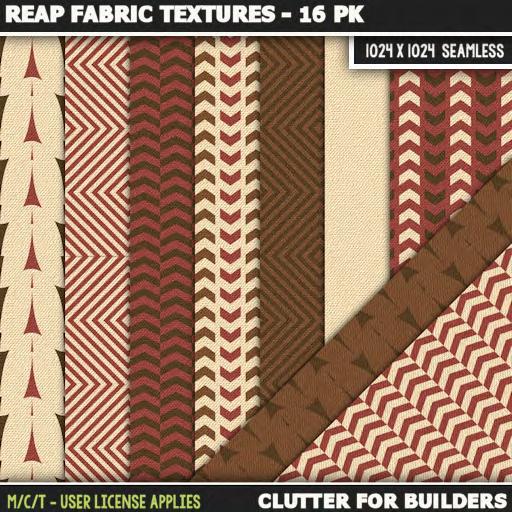 Clutter - Reap Fabric Textures - 16PK - ad