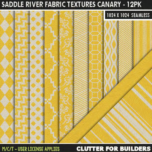 Clutter - Saddle River Fabric Textures Canary - 12PK