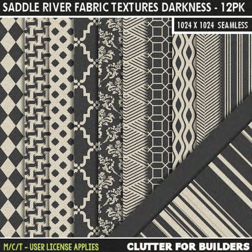 Clutter - Saddle River Fabric Textures Darkness - 12PK