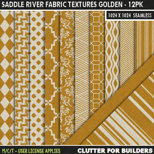 Clutter - Saddle River Fabric Textures Golden - 12PK