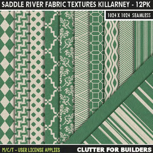 Clutter - Saddle River Fabric Textures Killarney - 12PK