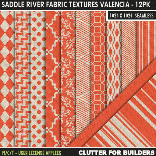 Clutter - Saddle River Fabric Textures Valencia - 12PK