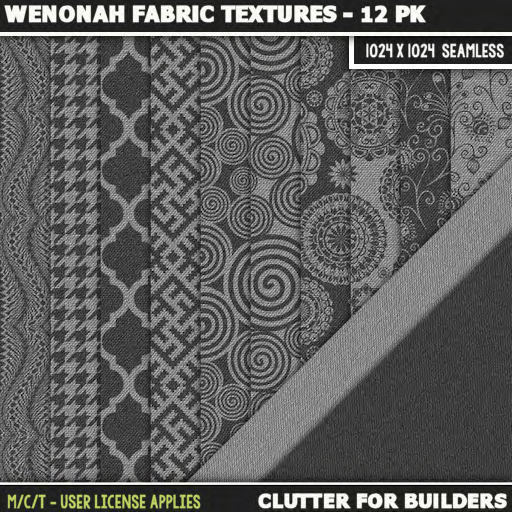 Clutter - Wenonah Fabric Textures - 12PK - ad