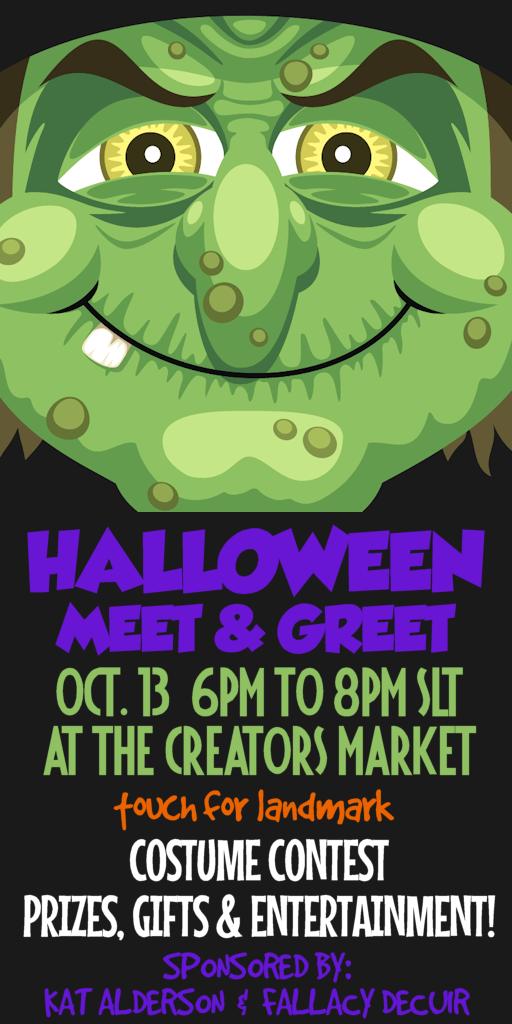 Meet 13 Year Old Julia Gelfond: Halloween Meet & Greet: Oct. 13 6pm To 8pm SLT