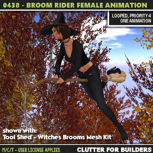Clutter - 0438 - Broom Rider - Female Anmation - ad