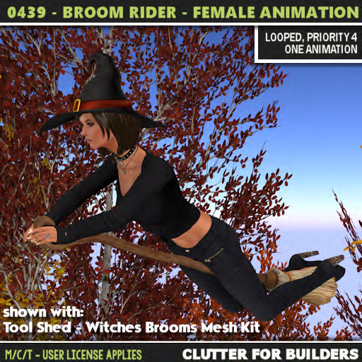Clutter - 0439 - Broom Rider - Female Anmation - ad
