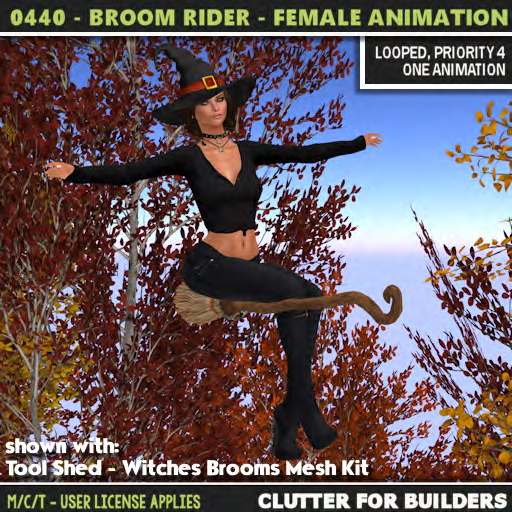 Clutter - 0440 - Broom Rider - Female Anmation - ad