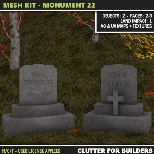 Clutter - Mesh Kit - Monument 22 ad