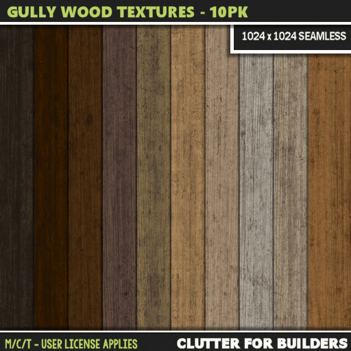 Clutter - Gully Wood Textures - 10PK - ad