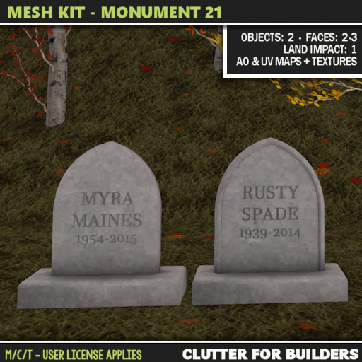 Clutter - Mesh Kit - Monument 21 ad