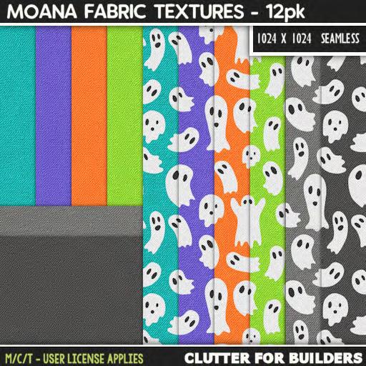 Clutter - Moana Fabric Textures - 12PK