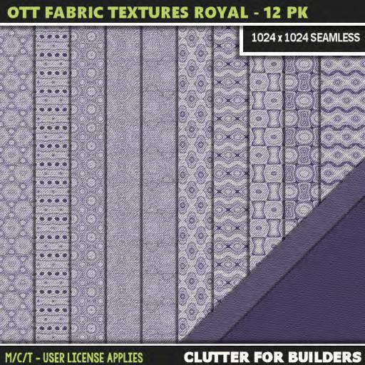 Clutter - Ott Fabric Textures Royal - 12PK - ad
