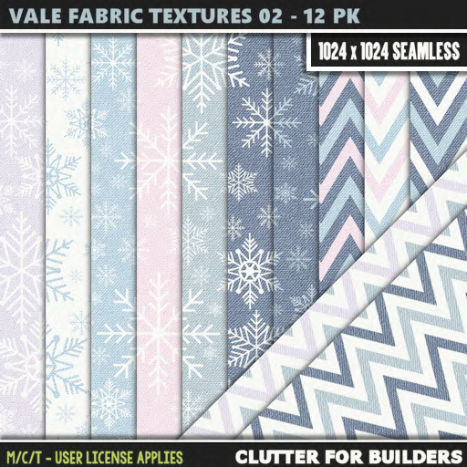 Clutter - Vale Fabric Textures 02 - 12PK