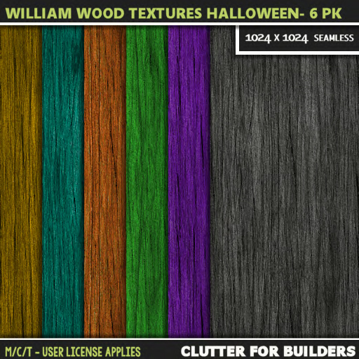 Clutter - William Wood Textures Halloween - 6PK - ad