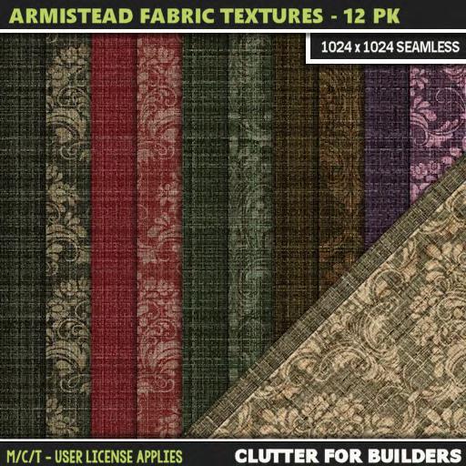 Clutter - Armistead Fabric Textures - 12PK