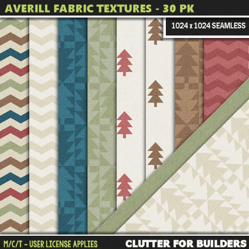 Clutter - Averill Fabric Textures - 30PK - ad