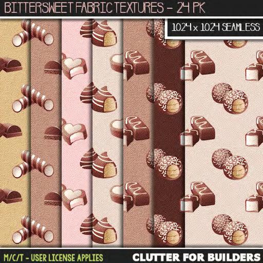 Clutter - Bittersweet Fabric Textures - 24PK