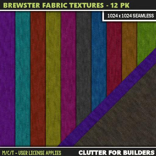 Clutter - Brewster Fabric Textures - 12PK