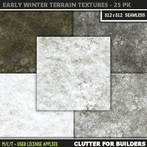 Clutter - Early Winter Terrain Textures - 25PK - ad
