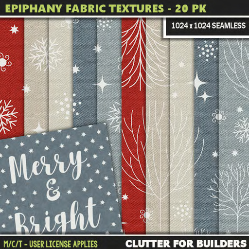 Clutter - Epiphany Fabric Textures - 20PK - ad