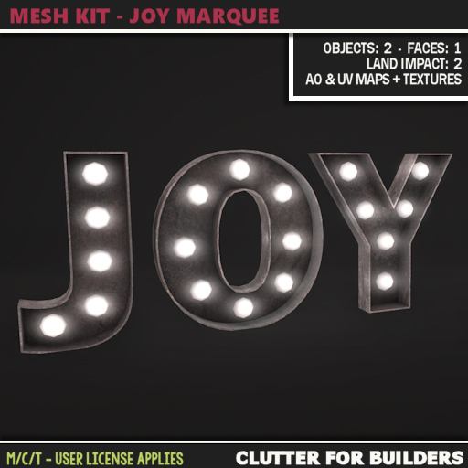 Clutter - Mesh Kit - Joy Marquee - ad