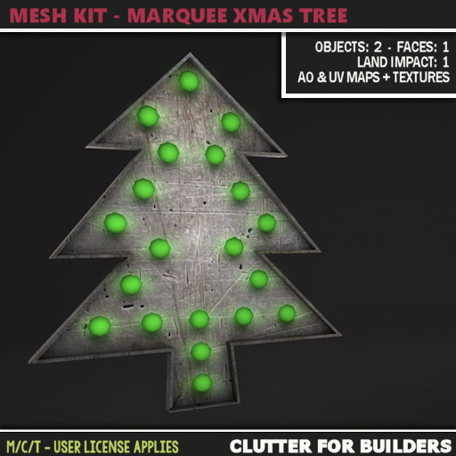 Clutter - Mesh Kit - Marquee Xmas Tree - ad