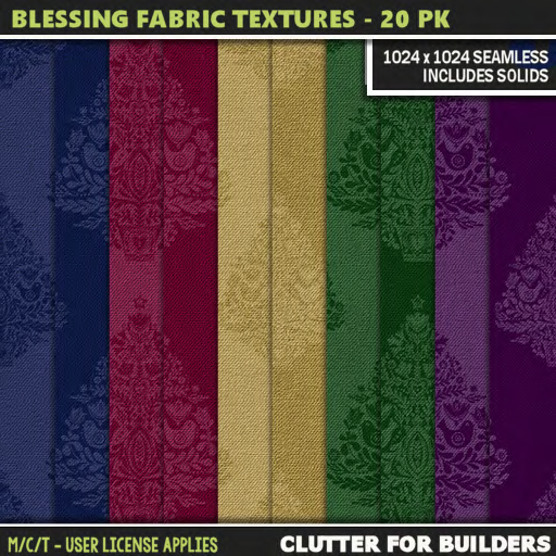 Clutter - Blessing Fabric Textures - 20PK - ad