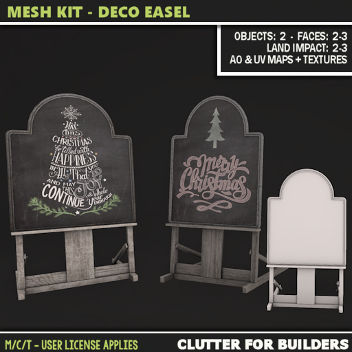 Clutter - Mesh Kit - Deco Easel - ad