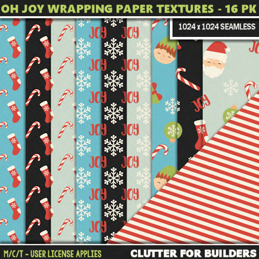 Clutter - Oh Joy Wrapping Paper Textures - 16PK - ad