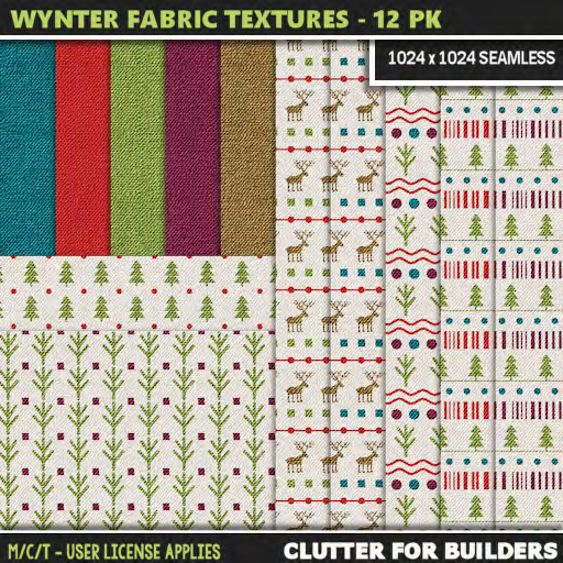 Clutter - Wynter Fabric Textures - 12PK - ad