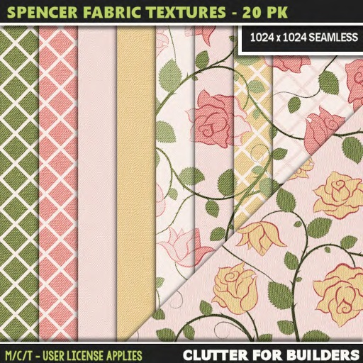 Clutter - Spencer Fabric Textures - 20PK main