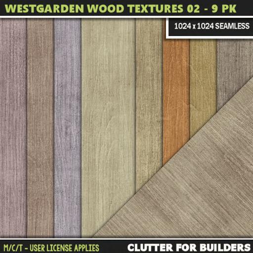 Clutter - Westgarden Wood Textures 02 - 9PK - ad