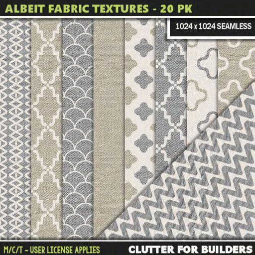 Clutter - Albeit Fabric Textures - 20PK - ad