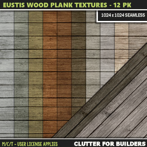 Clutter - Eustis Wood Plank Textures - 12PK - ad