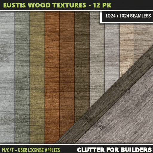 Clutter - Eustis Wood Textures - 12PK - ad