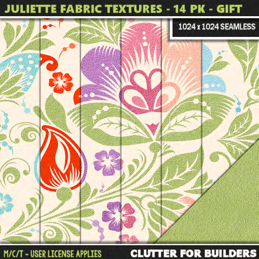 Clutter - Juliette Fabric Textures 14PK - VIP GIFT - ad