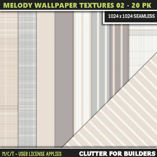 Clutter - Melody Wallpaper Textures 02 - 20PK - ad