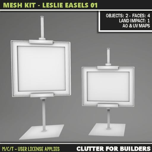 Clutter - Mesh Kit - Leslie Easels 01 - ad