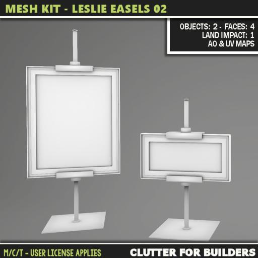 Clutter - Mesh Kit - Leslie Easels 02 - ad