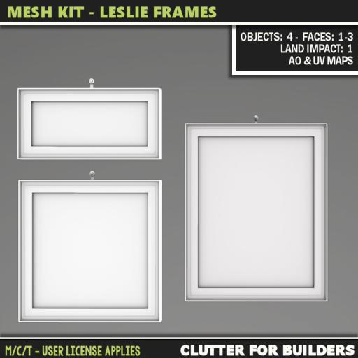 Clutter - Mesh Kit - Leslie Frames - ad -