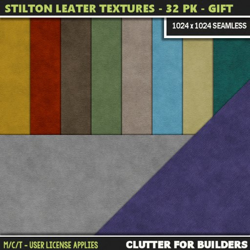 Clutter - Stilton Leather Textures - 32PK - VIP GIFT - ad