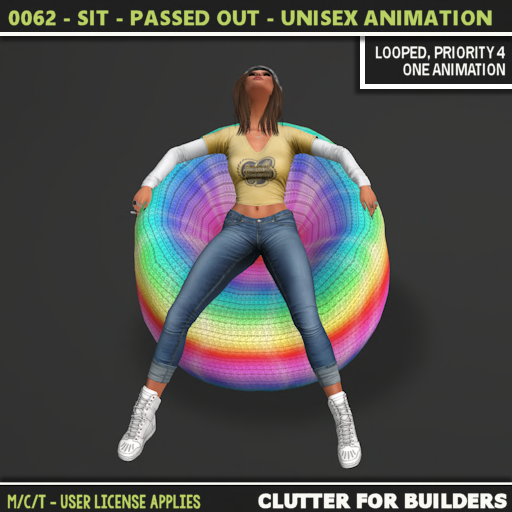 Clutter - 0062 - Sit - Passed Out - Unisex Animation - ad
