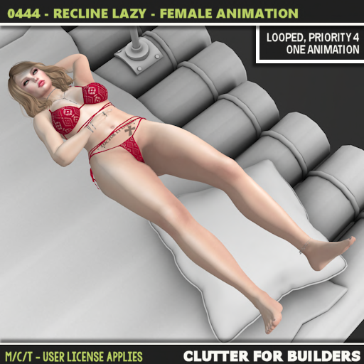 Clutter - 0444 - Recline Lazy - Female Animation - ad
