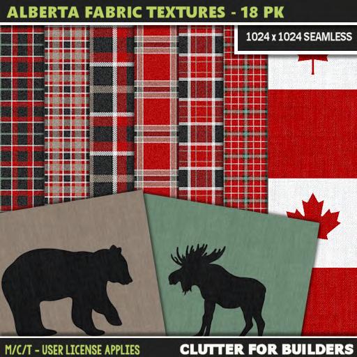 Clutter - Allberta Fabric Textures - 18PK - ad