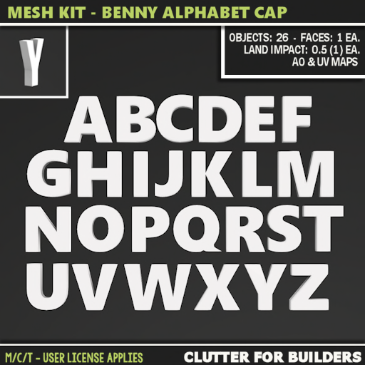 Clutter - Mesh Kit - Benny Alphabet Cap - ad