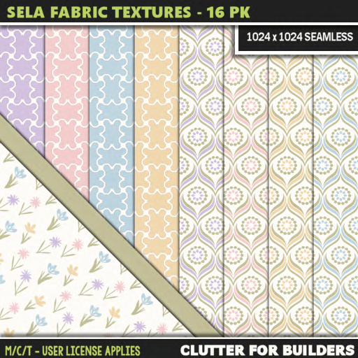 Clutter - Sela Fabric Textures - 16PK - ad