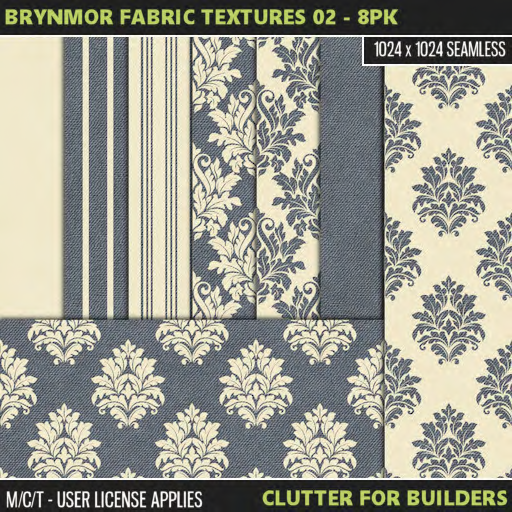Clutter - Brynmor Fabric Textures 02 - 8PK - ad