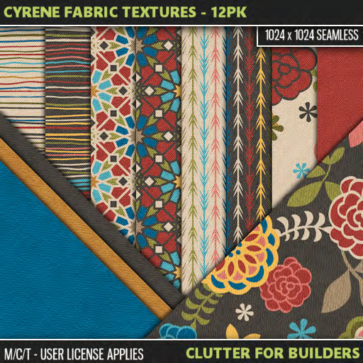 Clutter - Cyrene Fabric Textures - 12PK - ad