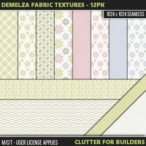 Clutter - Demelza Fabric Textures - 12PK - ad